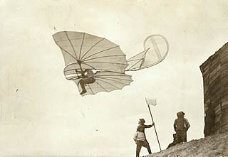 Flight of Otto Lilienthal in 1893