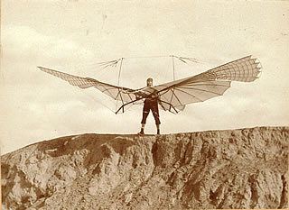 Otto Lilienthal with his